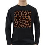 SKIN1 BLACK MARBLE & RUSTED METAL Long Sleeve Dark T-Shirts Front