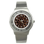 SKIN1 BLACK MARBLE & RUSTED METAL Stainless Steel Watch Front