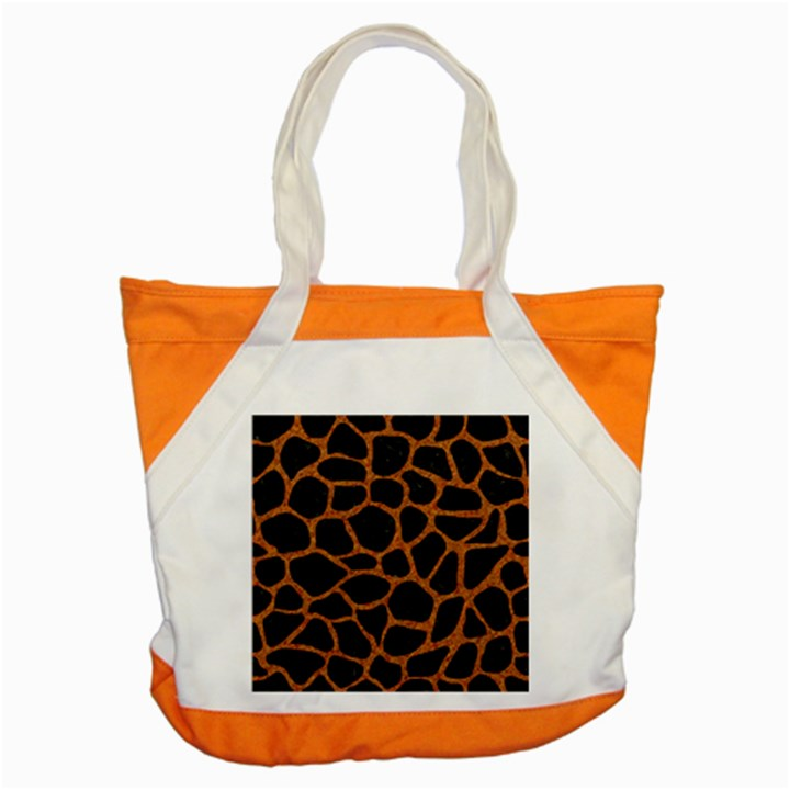 SKIN1 BLACK MARBLE & RUSTED METAL Accent Tote Bag