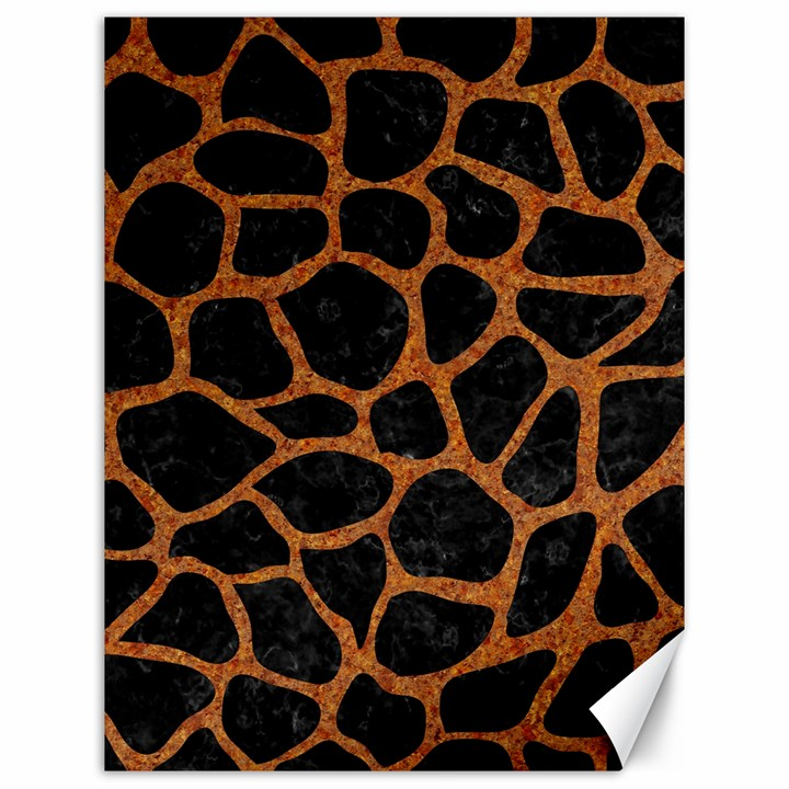 SKIN1 BLACK MARBLE & RUSTED METAL Canvas 12  x 16