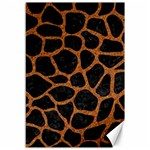 SKIN1 BLACK MARBLE & RUSTED METAL Canvas 12  x 18   18 x12 Canvas - 1