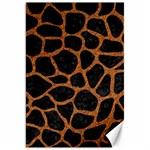 SKIN1 BLACK MARBLE & RUSTED METAL Canvas 20  x 30   30 x20 Canvas - 1
