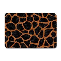 Skin1 Black Marble & Rusted Metal Small Doormat