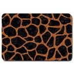 SKIN1 BLACK MARBLE & RUSTED METAL Large Doormat  30 x20 Door Mat - 1