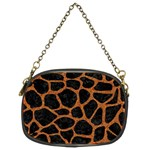 SKIN1 BLACK MARBLE & RUSTED METAL Chain Purses (Two Sides)  Back