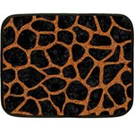SKIN1 BLACK MARBLE & RUSTED METAL Double Sided Fleece Blanket (Mini)  35 x27 Blanket Front