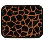 SKIN1 BLACK MARBLE & RUSTED METAL Netbook Case (XL)  Front