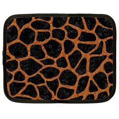Skin1 Black Marble & Rusted Metal Netbook Case (xxl)