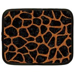 SKIN1 BLACK MARBLE & RUSTED METAL Netbook Case (XXL)  Front