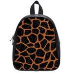 SKIN1 BLACK MARBLE & RUSTED METAL School Bag (Small) Front