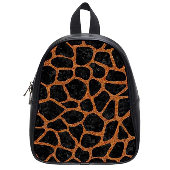 SKIN1 BLACK MARBLE & RUSTED METAL School Bag (Small)