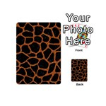 SKIN1 BLACK MARBLE & RUSTED METAL Playing Cards 54 (Mini)  Back