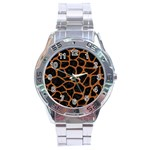 SKIN1 BLACK MARBLE & RUSTED METAL Stainless Steel Analogue Watch Front
