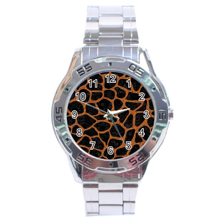 SKIN1 BLACK MARBLE & RUSTED METAL Stainless Steel Analogue Watch