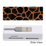 SKIN1 BLACK MARBLE & RUSTED METAL Memory Card Reader (Stick)  Front