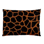 SKIN1 BLACK MARBLE & RUSTED METAL Pillow Case (Two Sides) Back