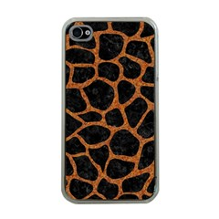 Skin1 Black Marble & Rusted Metal Apple Iphone 4 Case (clear)