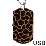 SKIN1 BLACK MARBLE & RUSTED METAL Dog Tag USB Flash (One Side) Front
