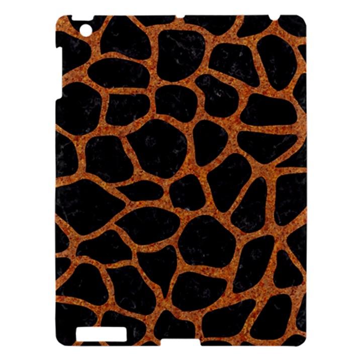 SKIN1 BLACK MARBLE & RUSTED METAL Apple iPad 3/4 Hardshell Case