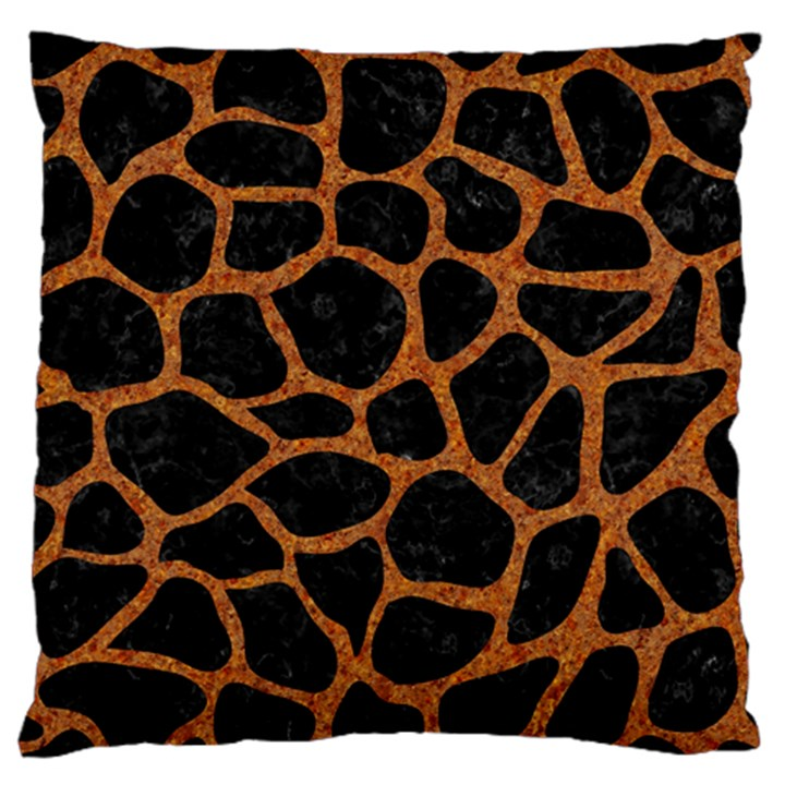 SKIN1 BLACK MARBLE & RUSTED METAL Large Cushion Case (One Side)