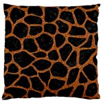 SKIN1 BLACK MARBLE & RUSTED METAL Large Cushion Case (Two Sides) Back