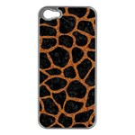 SKIN1 BLACK MARBLE & RUSTED METAL Apple iPhone 5 Case (Silver) Front