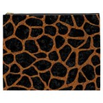 SKIN1 BLACK MARBLE & RUSTED METAL Cosmetic Bag (XXXL)  Front
