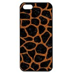 SKIN1 BLACK MARBLE & RUSTED METAL Apple iPhone 5 Seamless Case (Black) Front