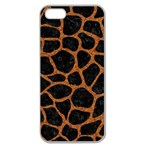 SKIN1 BLACK MARBLE & RUSTED METAL Apple Seamless iPhone 5 Case (Clear) Front
