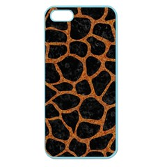 Skin1 Black Marble & Rusted Metal Apple Seamless Iphone 5 Case (color)