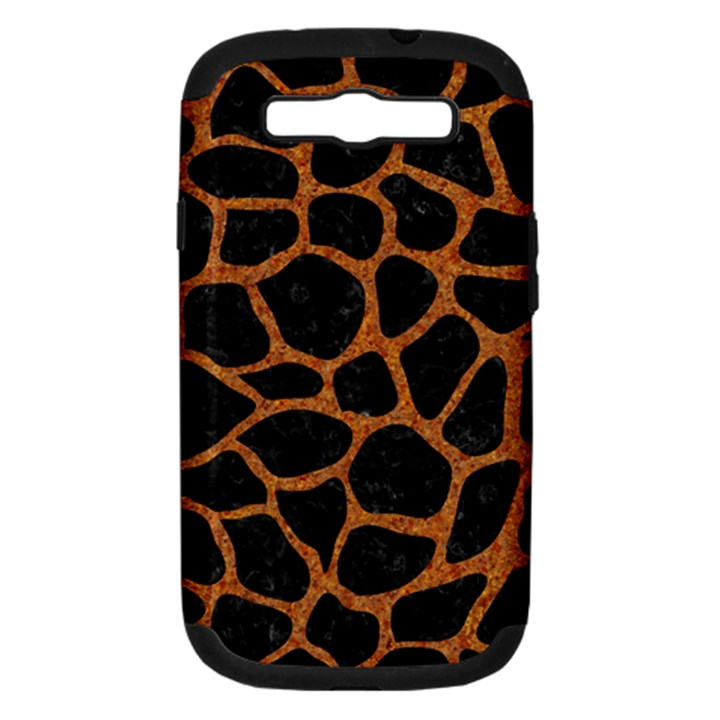 SKIN1 BLACK MARBLE & RUSTED METAL Samsung Galaxy S III Hardshell Case (PC+Silicone)