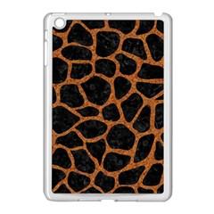 Skin1 Black Marble & Rusted Metal Apple Ipad Mini Case (white)