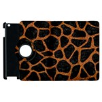 SKIN1 BLACK MARBLE & RUSTED METAL Apple iPad 3/4 Flip 360 Case Front