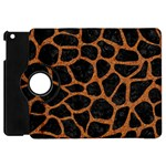 SKIN1 BLACK MARBLE & RUSTED METAL Apple iPad Mini Flip 360 Case Front