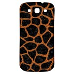 SKIN1 BLACK MARBLE & RUSTED METAL Samsung Galaxy S3 S III Classic Hardshell Back Case Front