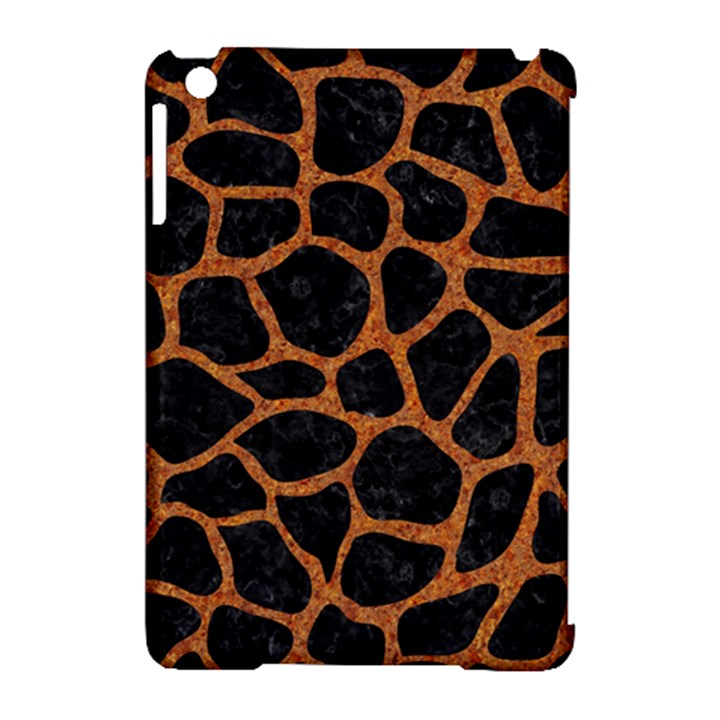 SKIN1 BLACK MARBLE & RUSTED METAL Apple iPad Mini Hardshell Case (Compatible with Smart Cover)