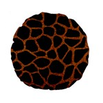 SKIN1 BLACK MARBLE & RUSTED METAL Standard 15  Premium Round Cushions Front
