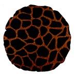 SKIN1 BLACK MARBLE & RUSTED METAL Large 18  Premium Round Cushions Back