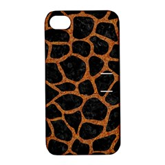 Skin1 Black Marble & Rusted Metal Apple Iphone 4/4s Hardshell Case With Stand
