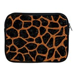 SKIN1 BLACK MARBLE & RUSTED METAL Apple iPad 2/3/4 Zipper Cases Front