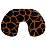 SKIN1 BLACK MARBLE & RUSTED METAL Travel Neck Pillows Back