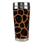 SKIN1 BLACK MARBLE & RUSTED METAL Stainless Steel Travel Tumblers Center