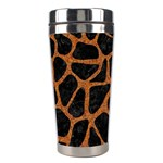 SKIN1 BLACK MARBLE & RUSTED METAL Stainless Steel Travel Tumblers Right
