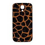 SKIN1 BLACK MARBLE & RUSTED METAL Samsung Galaxy S4 I9500/I9505  Hardshell Back Case Front