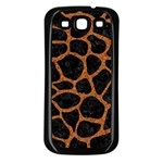 SKIN1 BLACK MARBLE & RUSTED METAL Samsung Galaxy S3 Back Case (Black) Front