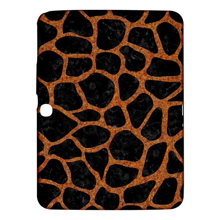SKIN1 BLACK MARBLE & RUSTED METAL Samsung Galaxy Tab 3 (10.1 ) P5200 Hardshell Case