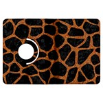 SKIN1 BLACK MARBLE & RUSTED METAL Kindle Fire HDX Flip 360 Case Front