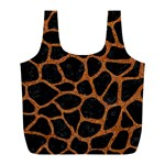 SKIN1 BLACK MARBLE & RUSTED METAL Full Print Recycle Bags (L)  Front