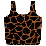SKIN1 BLACK MARBLE & RUSTED METAL Full Print Recycle Bags (L)  Back