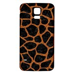 SKIN1 BLACK MARBLE & RUSTED METAL Samsung Galaxy S5 Back Case (White) Front